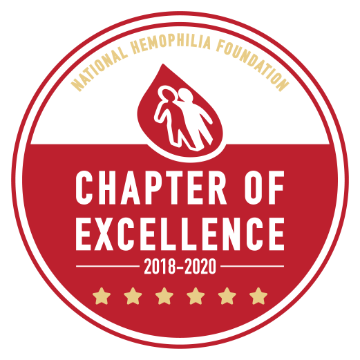 National Hemophilia Foundation 2018-2020 Chapter of Excellence text graphic.