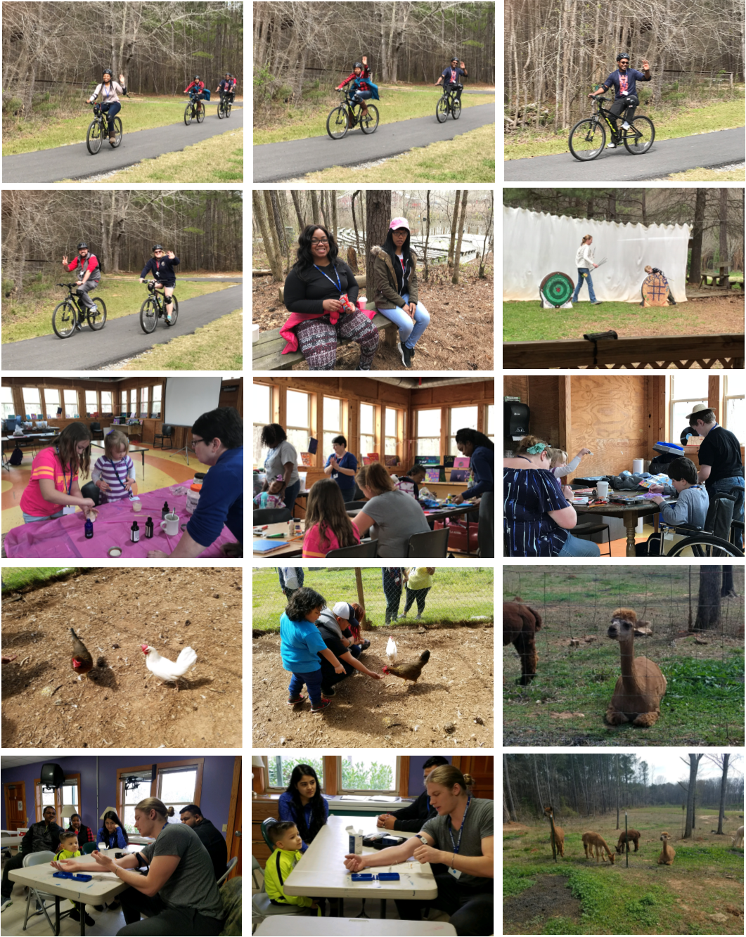 2018 Spring Family Camp Collage 2