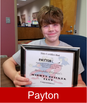 Payton Joins the Mighty Sticker Club