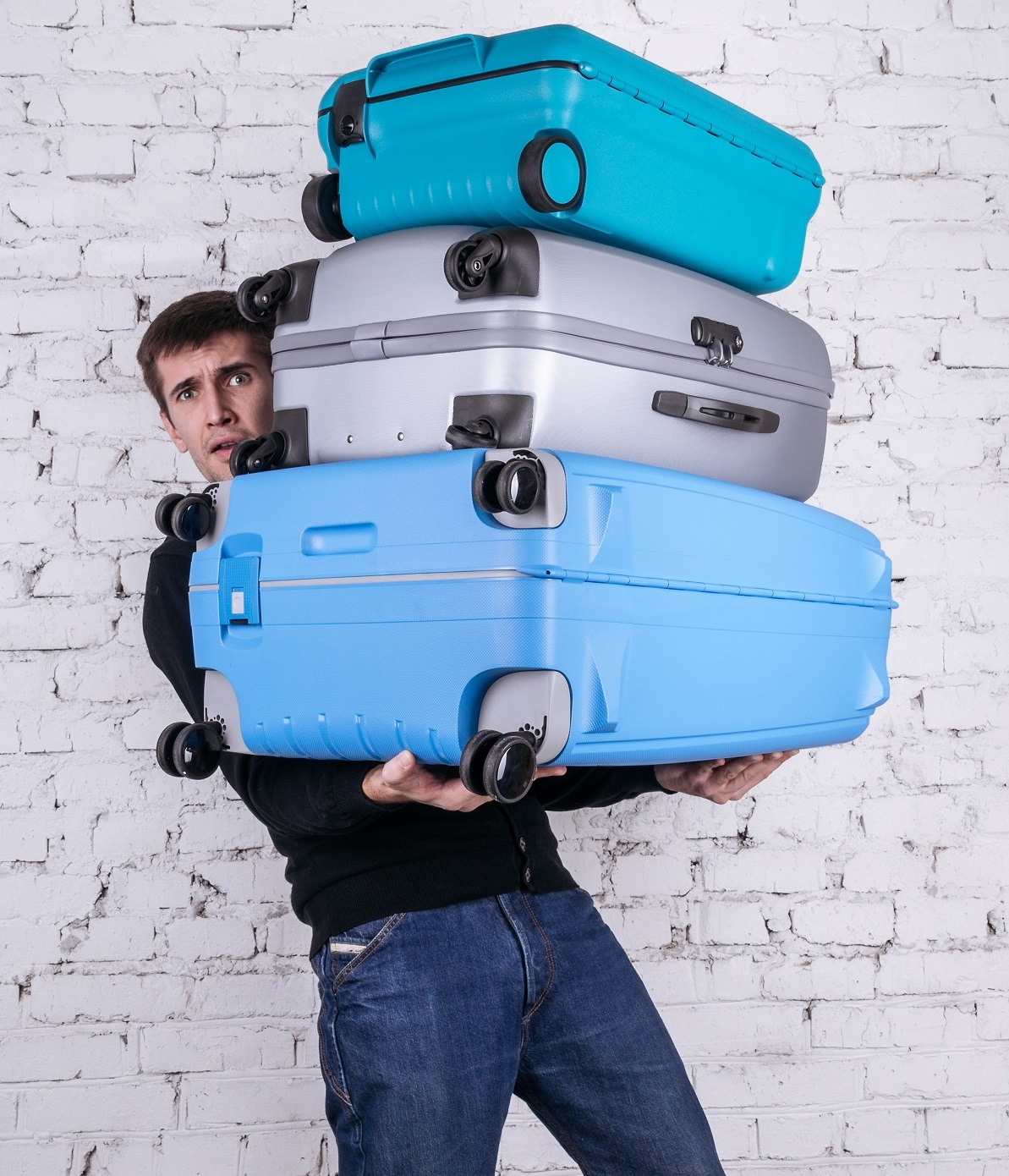 Guy with too much luggage