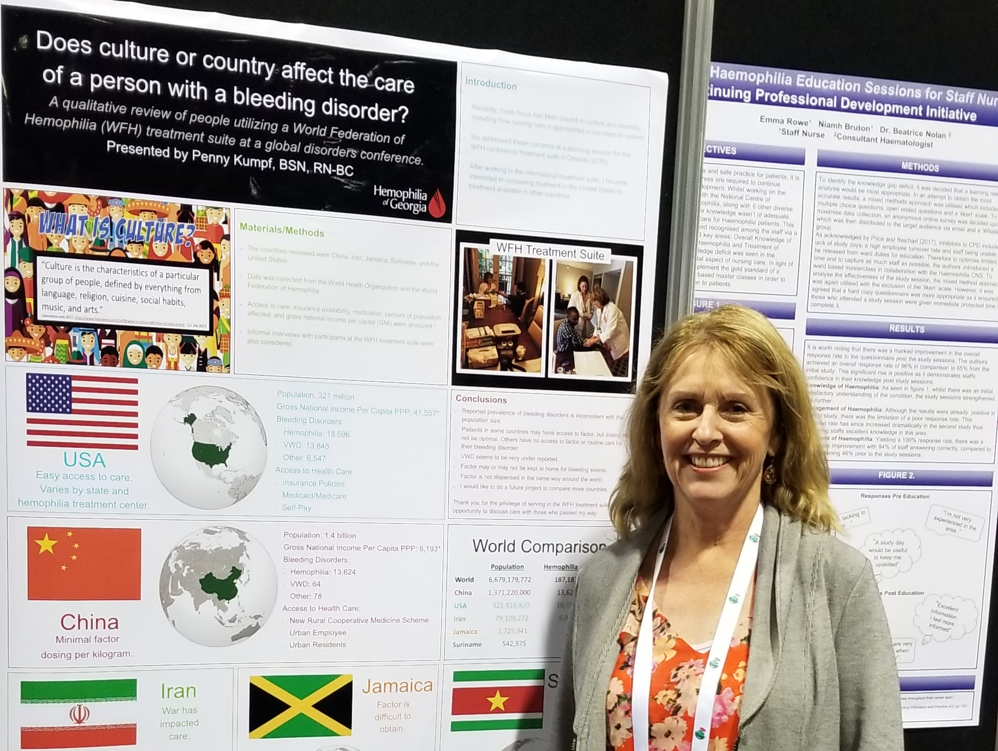 Penny Kumpf and her poster at WHF