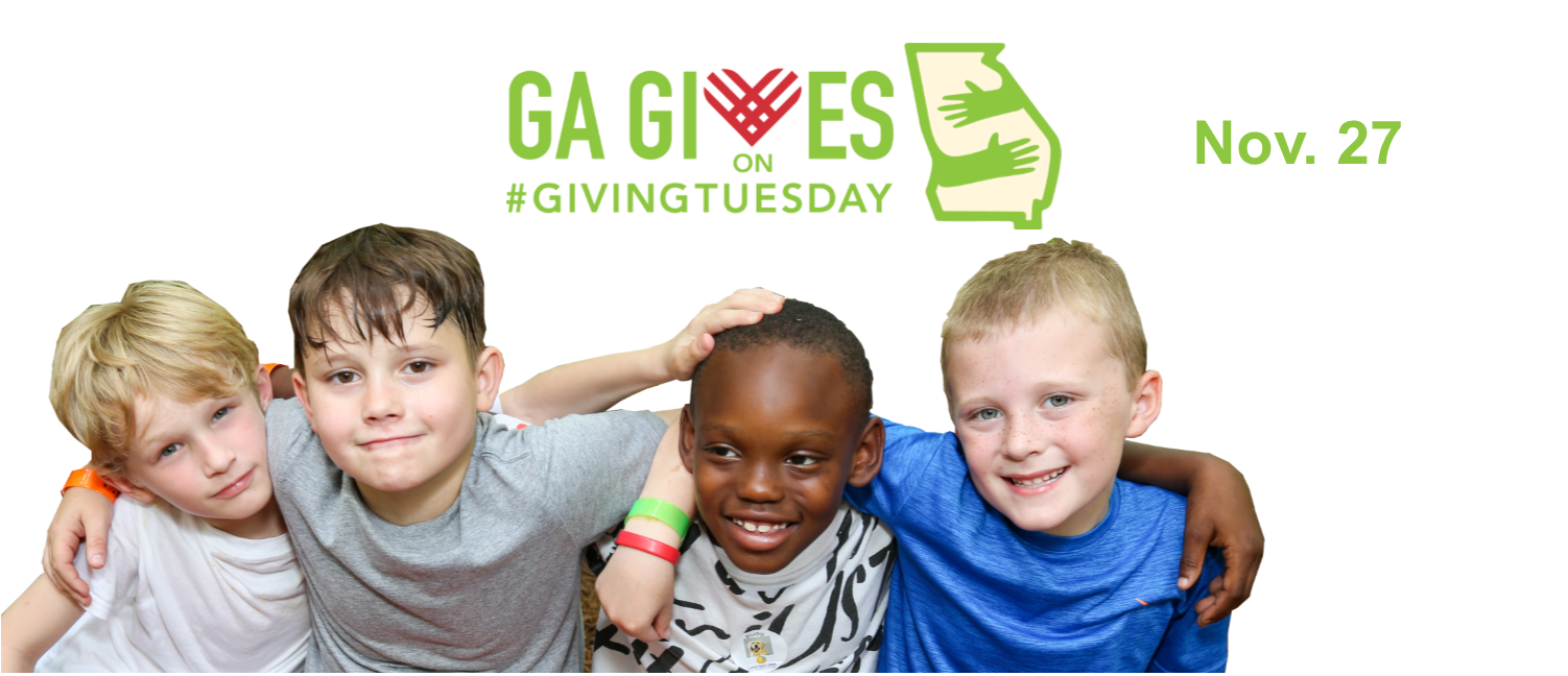 2018 Georgia Gives on Giving Tuesday 3 - four boys at camp
