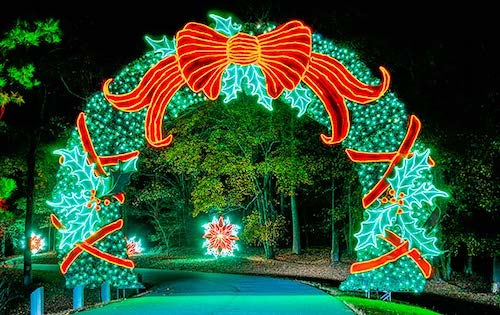 Callaway Gardens light up wreath