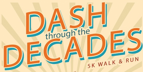 Dash through the Decades text graphic