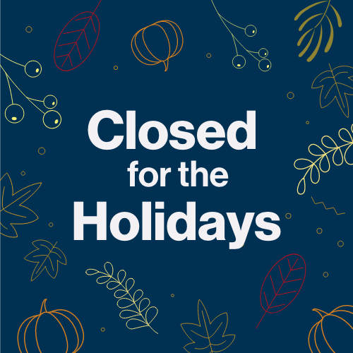 closed for the holidays square