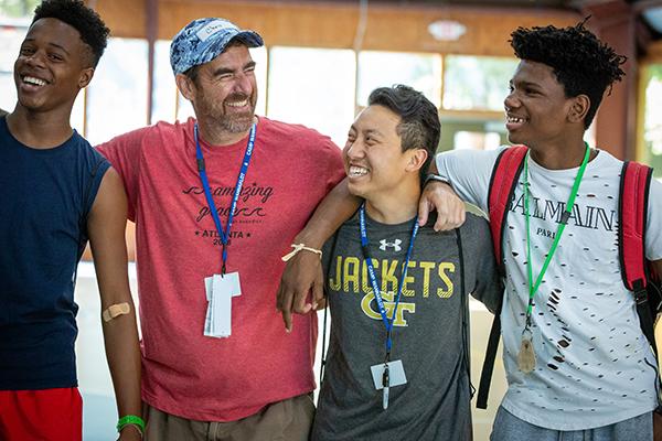 Camp Wannaclot - 4 campers and volunteer